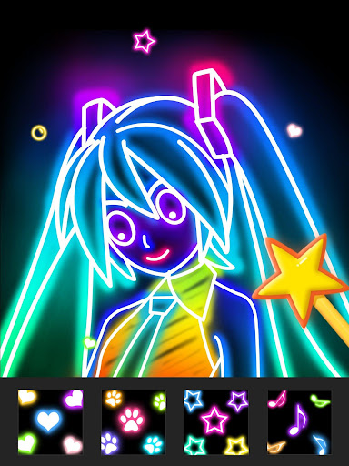 Draw Glow Comics 1.0.5 screenshots 9