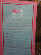 Photo: I made a list before I left home.  I often add items that catch my eye or products that are on sale.