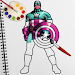 Superhero Captain US Coloring Pages For Kids icon