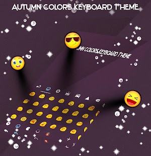 Autumn Colors Keyboard Theme - náhled