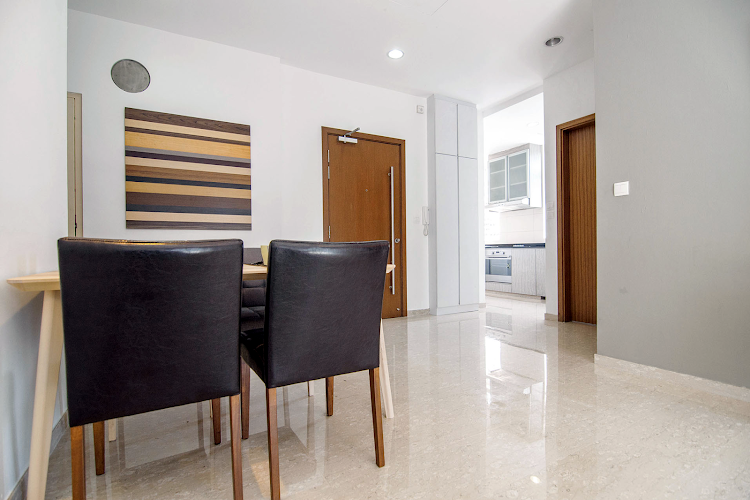 Spacious dining area at Toa Payoh Apartments, Balestier