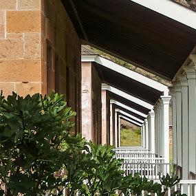 Porches by Debbie Jones - Buildings & Architecture Architectural Detail ( national historic park, architectural detail, architecture, porches, ft davis,  )