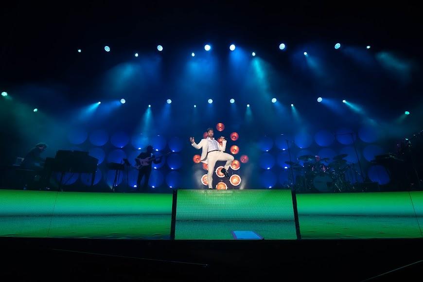 La aparición de Bisbal en el escenario causó sensación entre el público