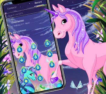 Unicorn dream wallpaper lock screen theme - náhled