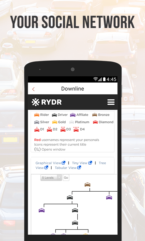 RYDR Driver- screenshot