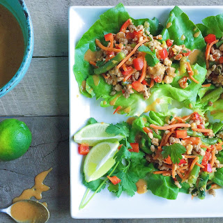Thai Turkey Lettuce Wraps with Peanut Sauce Recipe