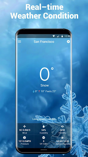 Screenshot for Free Weather Forecast & Clock Widget in United States Play Store