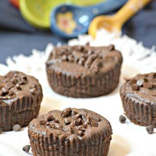 4 Ingredient Flourless Chocolate Muffins Cupcakes Vegan.