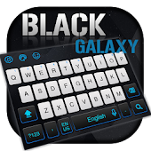 Black White Galaxy keyboard