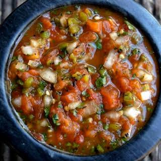 Roasted Tomato Poblano Salsa.