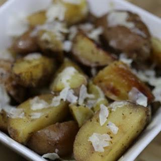 Crock Pot Parmesan Potatoes.