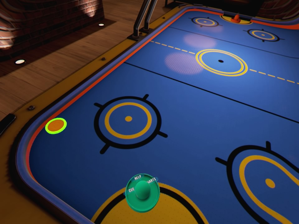 VR Sports Bar Air Hockey