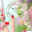Flower Clock Live Wallpaper 2019: Luxury Watch 3D icon