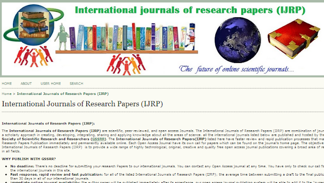 Journals for research papers