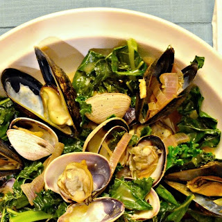 Gingered Mussels And Clams With Kale.