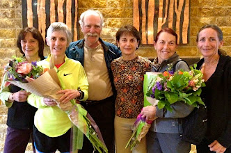 Photo: Napa Valley Marathon Nina Kuscsik, Joan Benoit Samuelson, Rich Benyo and Rhonda, Jacqueline, Julie McKinney