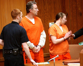 Photo: James Dean Woodworth, 39 of Pontiac, and Samantha Lorrain Lomasney, 20 of Pontiac, at Waterford's 51st District Court for there preliminary exam. Woodworth and Lomasney are charged with first-degree murder in the death of Kmart security guard Greg Paul Wainio. The Oakland Press/TIM THOMPSON