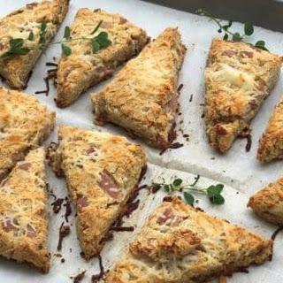 Keto Ham and Cheese Savory Scones.