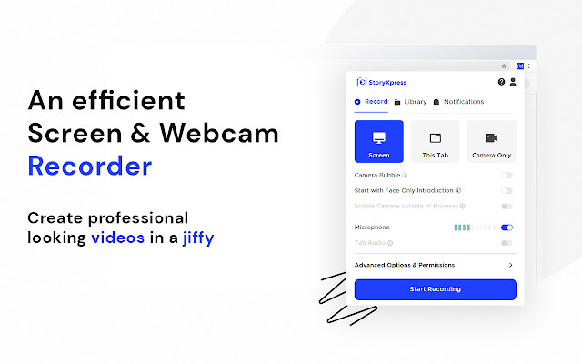 Webcam + Screen Video Recorder Video Editor