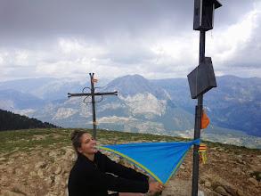 Photo: Marta Lliró, cap del cau al cim de la Gallina Pelada (2.317m).