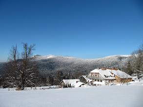 Photo: Blick zum Oberhaiderberg und den Osser