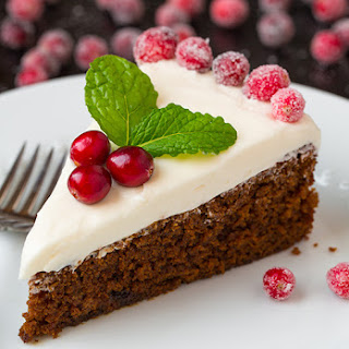Gingerbread Cake with Cream Cheese Frosting.