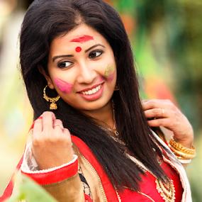 Basanta Utsav by Rajib Chatterjee - People Portraits of Women