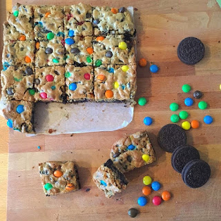 M&M Oreo Cookie Dough Bar  Recipe