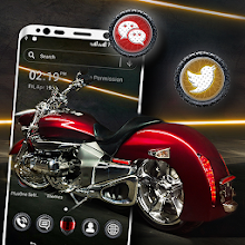 Red Bike Launcher Theme Download on Windows