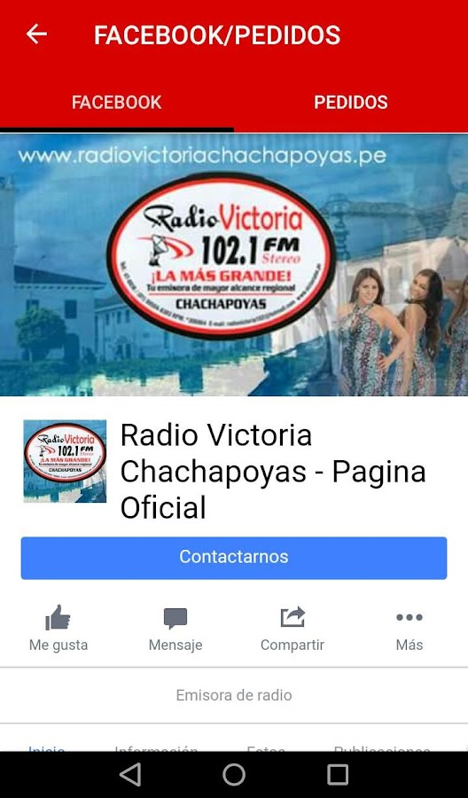 RADIO VICTORIA-CHACHAPOYAS- screenshot