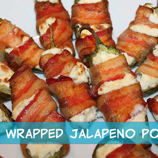 Low Carb Snack - Bacon Wrapped Jalapeno Poppers
