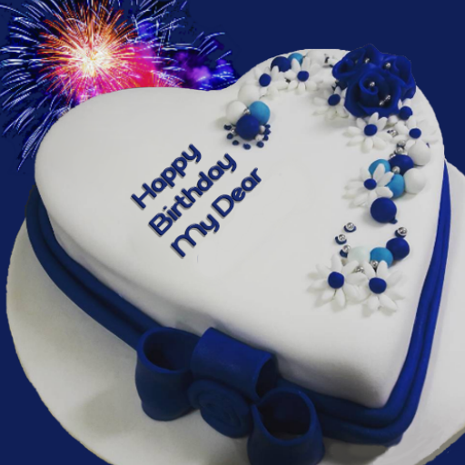 Wondrous Birthday Cake With Name And Photo Birthday Quotes Aplikacije Na Personalised Birthday Cards Veneteletsinfo