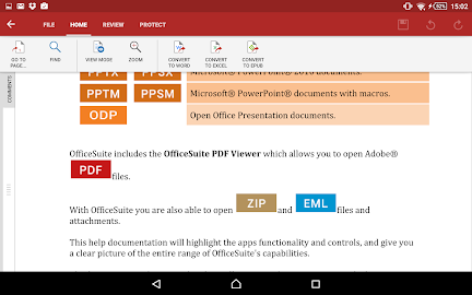 OfficeSuite 8 Pro (Trial) Screenshot 4