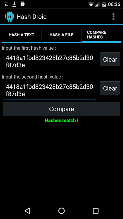 Hash Droid- screenshot