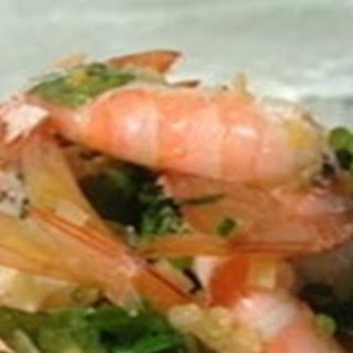 Prawn Salad With Preserved Lemons And Fresh Herbs.