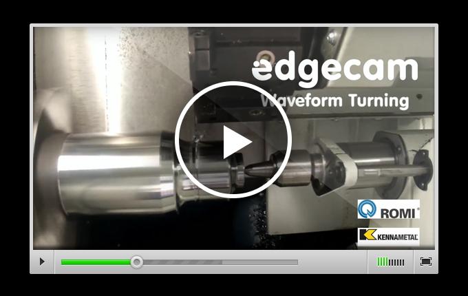 Обработка EDGECAM Waveform инструментом Romi и Kennametal