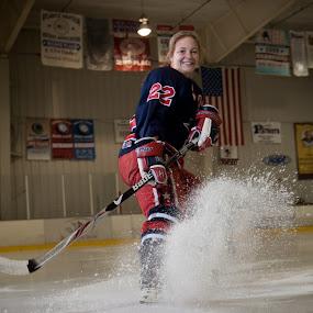 Stephanie by Bill  Brokaw - People High School Seniors ( skate, hockey, ice, sport, senior )