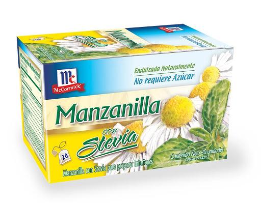 Te Mc Cormick Manzanilla Con Stevia 20Und
