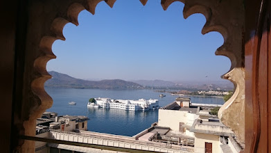 Photo: udaipur as seen from the lake palace window, http://jarogruber.blogspot.de/2016/02/northern-india.html