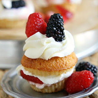 Sweet Cornbread Triple Berry Shortcakes