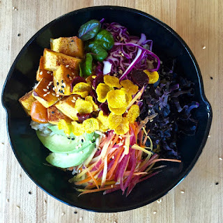 Nourishing Winter Bowl with Chipotle-Maple Roast Squash and Rainbow Veggies