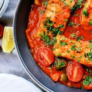 White Fish in Simple Tomato Sauce.