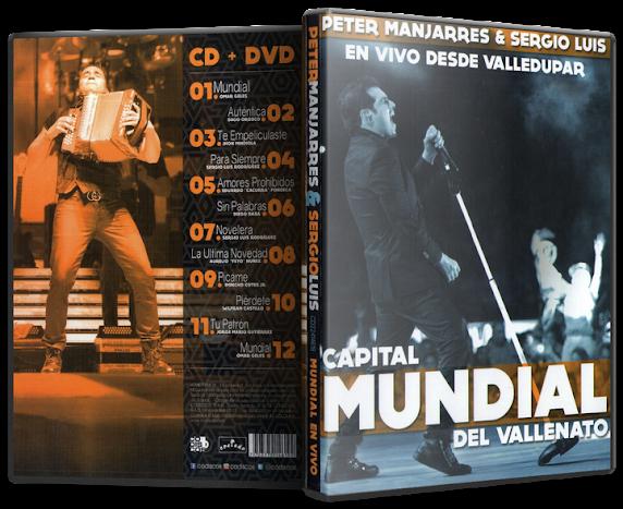 Peter Manjarrés & Sergio Luis Rodríguez - En Vivo Desde Valledupar: Capital Mundial del Vallenato (2015) [MP3 @320 Kbps]