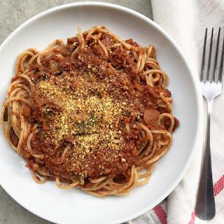 Lentil-Walnut Bolognese (Vegan!).