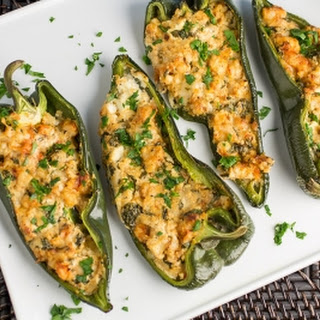 Cajun Shrimp Stuffed Poblano Peppers.