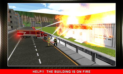 911 Rescue Fire Truck 3D Sim  screenshots 4