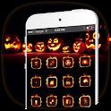 Fire Pumpkin Launcher Theme icon