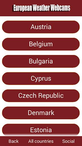 European Weather Webcams