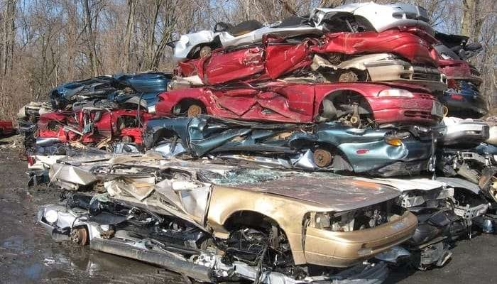 Recycled Cars Pile