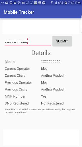 MNP Mobile Tracker  screenshots 2